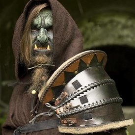 Epic Armoury Orc pauldron, LARP Leather Shoulder.