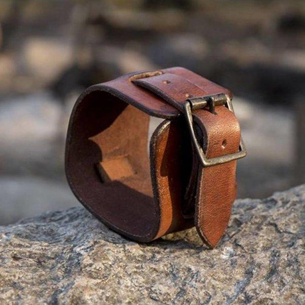 Epic Armoury bransoletka mankiet skórzany