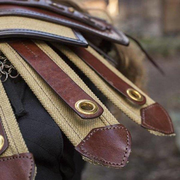 Epic Armoury Romeins schouderpantser van leer
