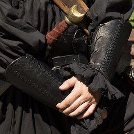 Epic Armoury Leather bracers Battle, pair, black