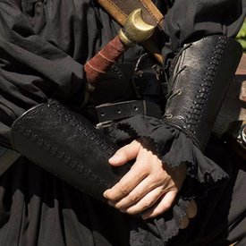Epic Armoury Lederarmschienen Schlacht, Paar, schwarz