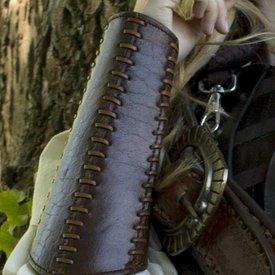 Epic Armoury Brazales de cuero de batalla, marrón, par