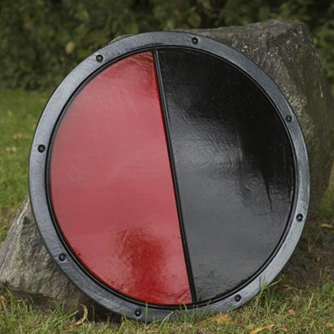 Epic Armoury LARP rondschild zwart/rood