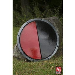 LARP rund Sköld svart / röd