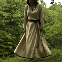 Basic dress, beige/brown