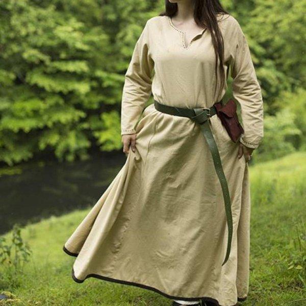 Epic Armoury Grundlæggende kjole, beige / brun