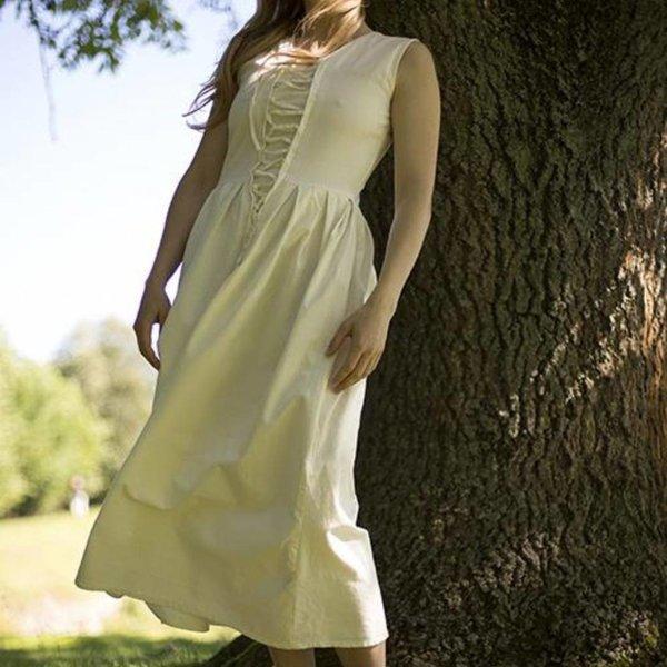 Epic Armoury Vestido medieval Elaine, blanco.
