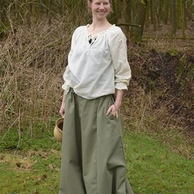 Medieval skirt Melisende, green