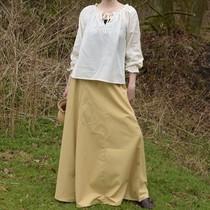 Middeleeuwse rok Melisende, lichtbruin