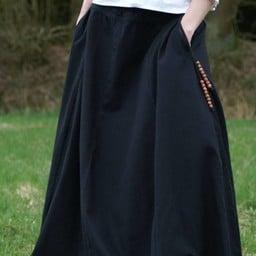 Medieval skirt Melisende, black