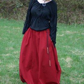 Falda medieval de melisende, roja.