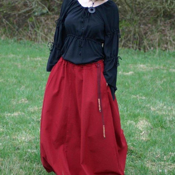 Medieval skirt Melisende, red