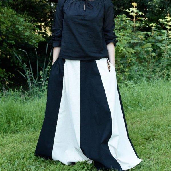 Middelalder skørt Loreena, sort-naturlig