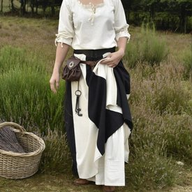Falda medieval de loreena, negro-natural.