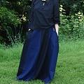 Falda medieval de loreena, negro-azul.