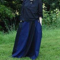 Medieval skirt Loreena, black-blue