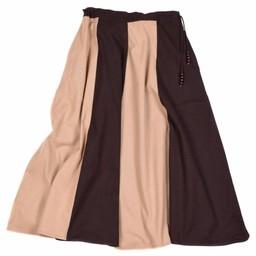 Medieval skirt Loreena, brown-light brown