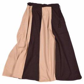Medeltids kjol Loreena, brun-Ljusbrun