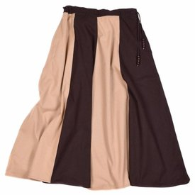 Medieval nederdel Loreena, brun-lys brun