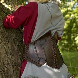 Dark Elf corsé de cuero marrón oscuro / marrón