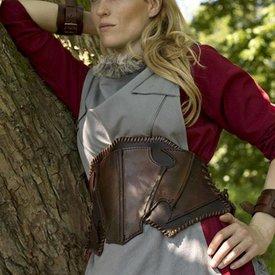 Epic Armoury Corset Elf foncé en cuir marron foncé / marron