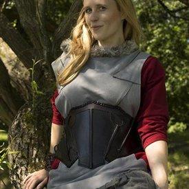 Epic Armoury Dark Elf svart / brunt läder korsett