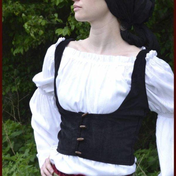 Middeleeuwse waistcoat Ryia, zwart