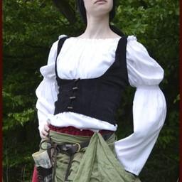 Mittelalterliche Weste Ryia, schwarz