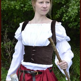 Gilet medievale Ryia, marrone