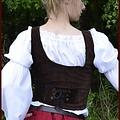 Mittelalterliche Weste Ryia, braun