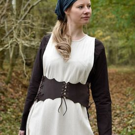 Cintura corsetto in pelle Maerwynn, marrone