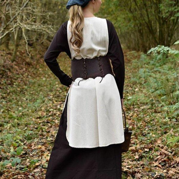 Ceinture corset en cuir Maerwynn, marron