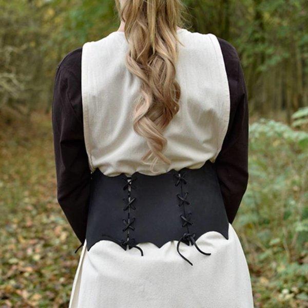 Cintura corsetto in pelle Maerwynn, nera