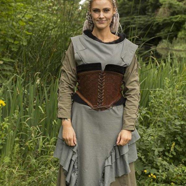Epic Armoury Leren korset Margot, bruin