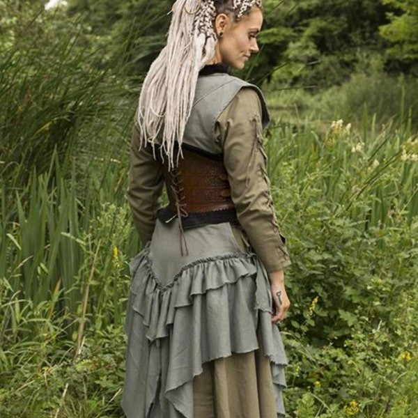 Epic Armoury Lederkorsett Margot, braun
