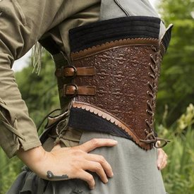 Epic Armoury Corsetto in pelle Margot, marrone