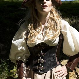 Epic Armoury Corsetto in pelle Rogue, nero-marrone