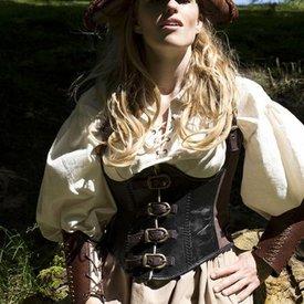 Epic Armoury Läder korsett Rogue, svartbrun