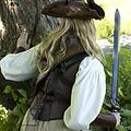 Epic Armoury Leren korset Rogue, zwart-bruin