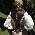 Epic Armoury Lederkorsett Rogue, braun-beige
