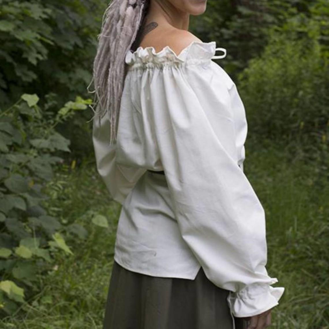 Epic Armoury Blusa pirata Reid, blanca