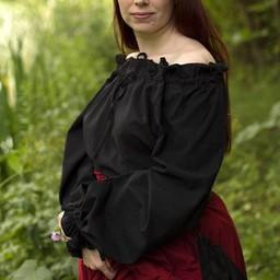 Piraten-Bluse Reid, schwarz
