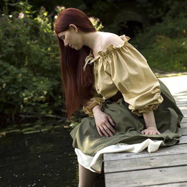 Epic Armoury Piraten-Bluse Reid, beige