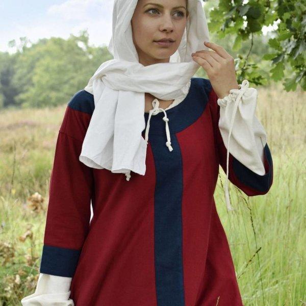 (Vroeg) middeleeuwse jurk Clotilde, rood-blauw