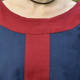 (Early) medieval dress Clotild, blue-red