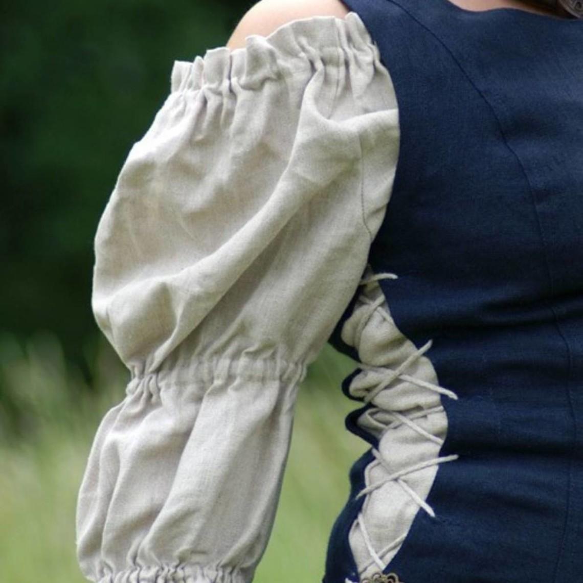 Blusa de lino Isabetta, natural.