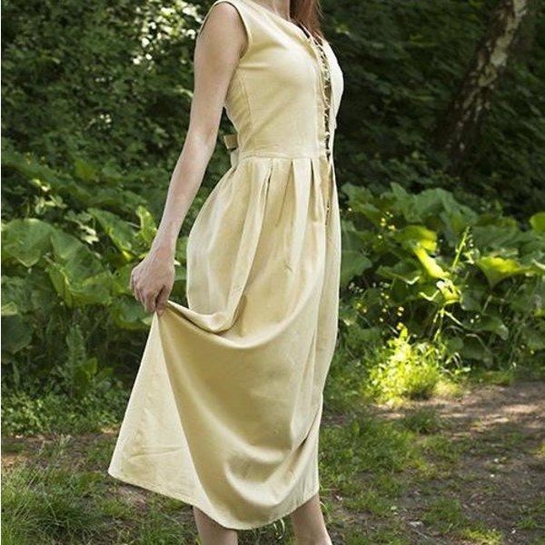 Epic Armoury Średniowieczna sukienka Elaine, beżowa