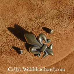 Fleur-de-lys belt fittings (set of 5 pieces)