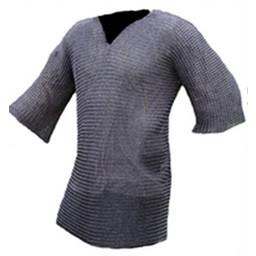 Hauberk with mid-length sleeves, 8 mm