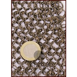 Hauberk with mid-length sleeves, round rings - round rivets, 8 mm